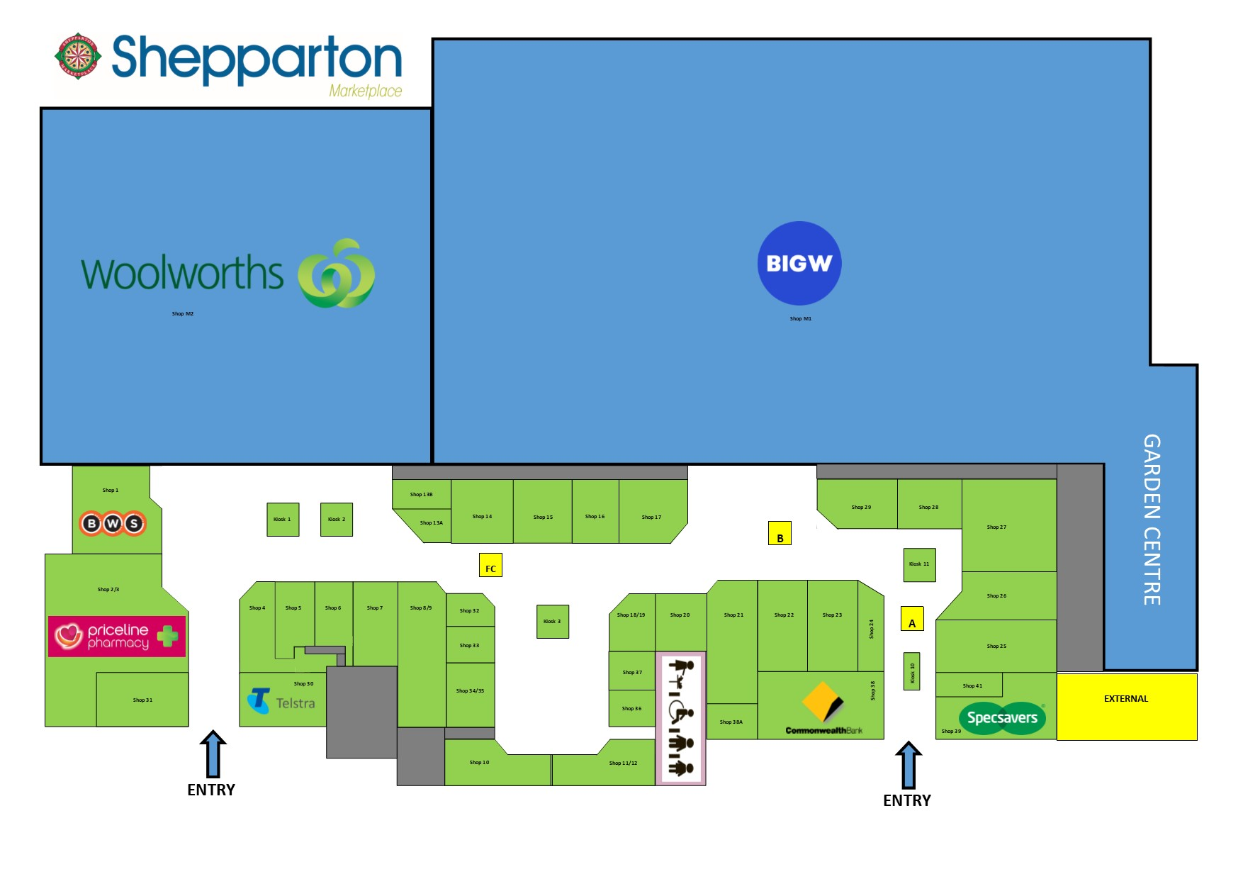 Shepparton Marketplace Map