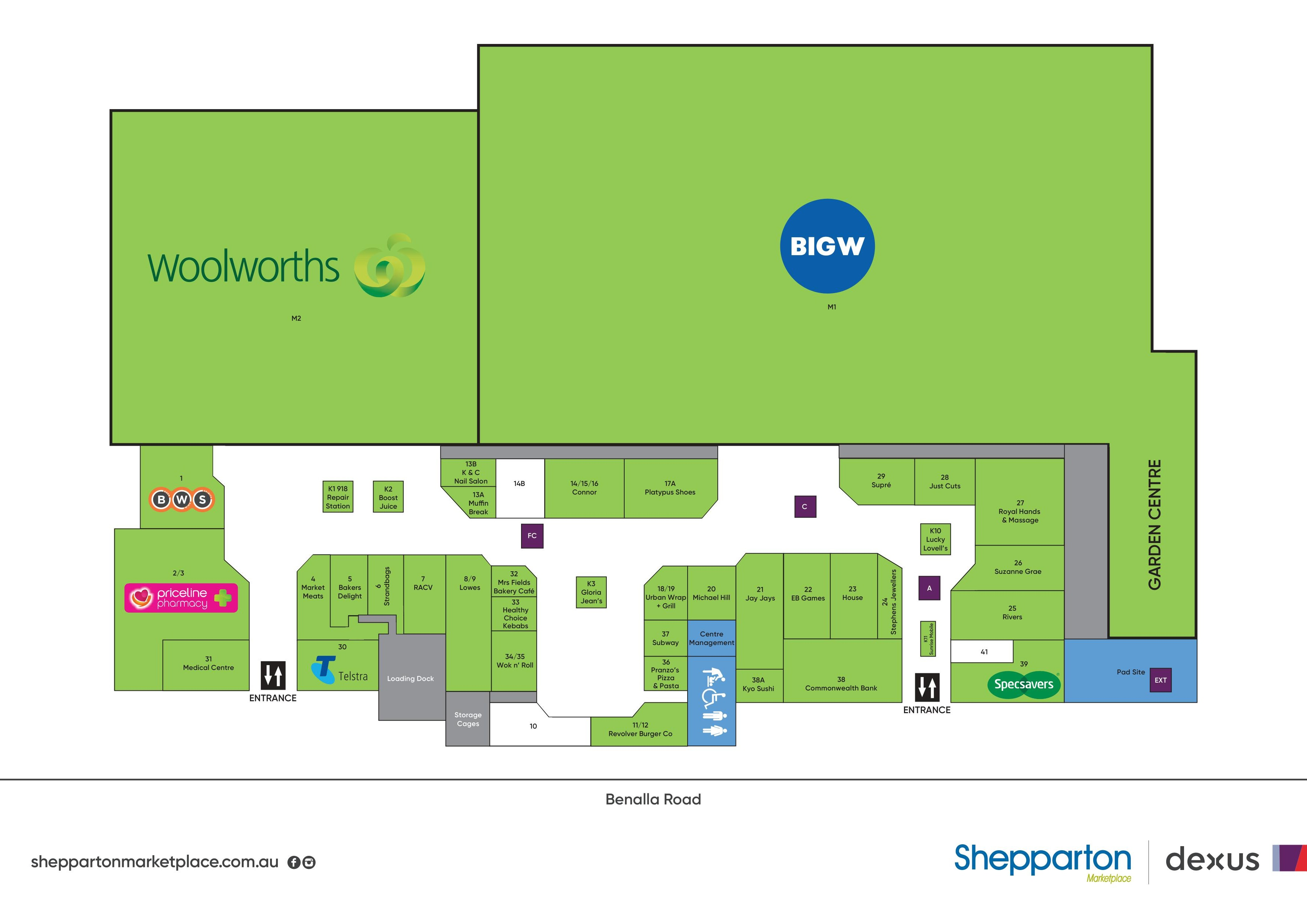 Shepparton Marketplace Map Feb2021